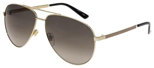 Preload https://img-static.tradesy.com/item/25946450/gucci-gold-green-aviator-web-0137-metal-brown-gradient-gg0137s-unisex-sunglasses-0-1-540-540.jpg