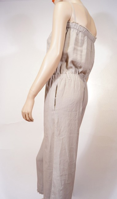 Cloth Stone Cloth Stone Beige Strapless Frayed Wide Leg Romper Jumpsuit Jumper S Image 1