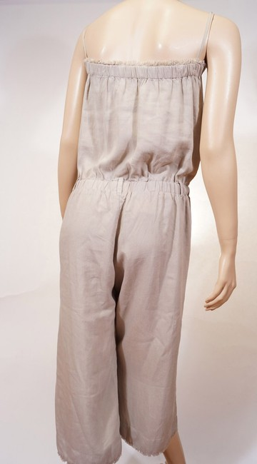 Cloth Stone Cloth Stone Beige Strapless Frayed Wide Leg Romper Jumpsuit Jumper S Image 2