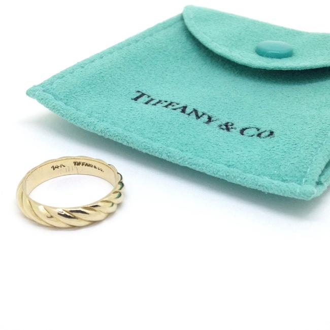 Tiffany & Co. Twist Vintage 14k Gold Ring Women's Wedding Band Tiffany & Co. Twist Vintage 14k Gold Ring Women's Wedding Band Image 1