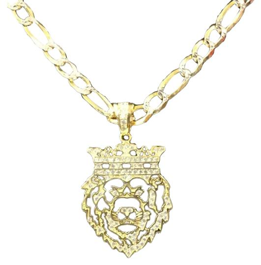 Preload https://img-static.tradesy.com/item/25946486/gold-14k-bonded-solid-925-icy-africa-lion-chain-charm-0-2-540-540.jpg