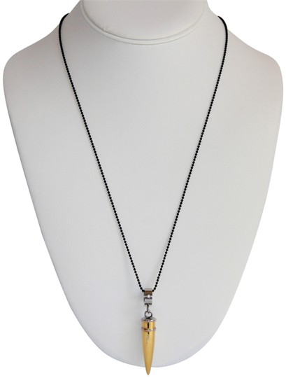 Preload https://img-static.tradesy.com/item/25946510/gold-unisex-spikes-316l-stainless-steel-gold-plated-bullet-necklace-0-1-540-540.jpg