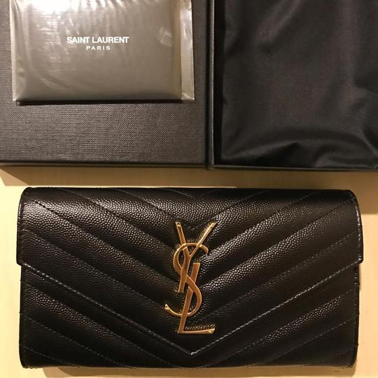 Saint Laurent Quilted textured-leather wallet Image 5