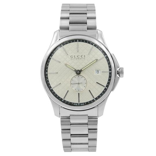Preload https://img-static.tradesy.com/item/25946523/gucci-steel-g-timeless-silver-check-dial-mens-open-back-ya126320-watch-0-0-540-540.jpg