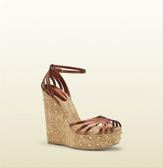 Gucci Brown Wedges Image 1