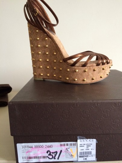 Gucci Brown Wedges Image 2