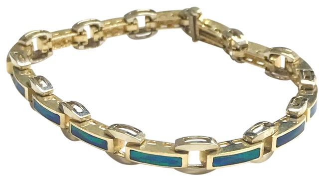 Estate Collection 14 Karat Yellow Gold and Opal Bracelet Estate Collection 14 Karat Yellow Gold and Opal Bracelet Image 1