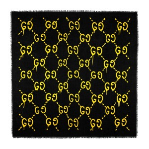 Gucci Gucci Black Yellow GG Ghost Shawl