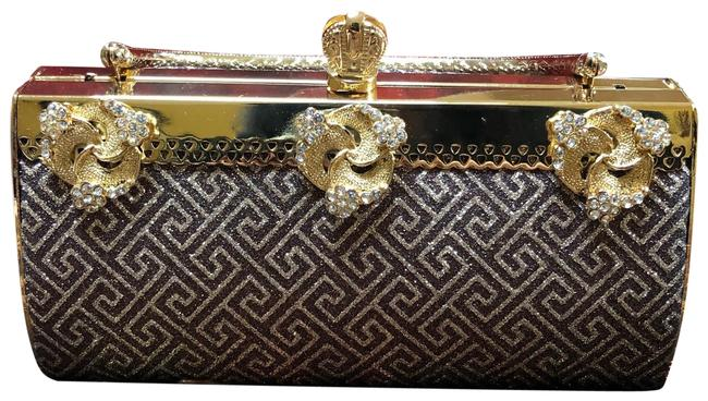 Item - W Women's and Crystal W/ Gold Silver Metal Clutch