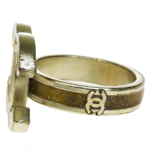Chanel Authentic CHANEL CC Logo Ring Hardware Gold-tone Accessory Vintage Image 1