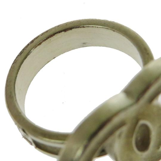 Chanel Authentic CHANEL CC Logo Ring Hardware Gold-tone Accessory Vintage Image 4