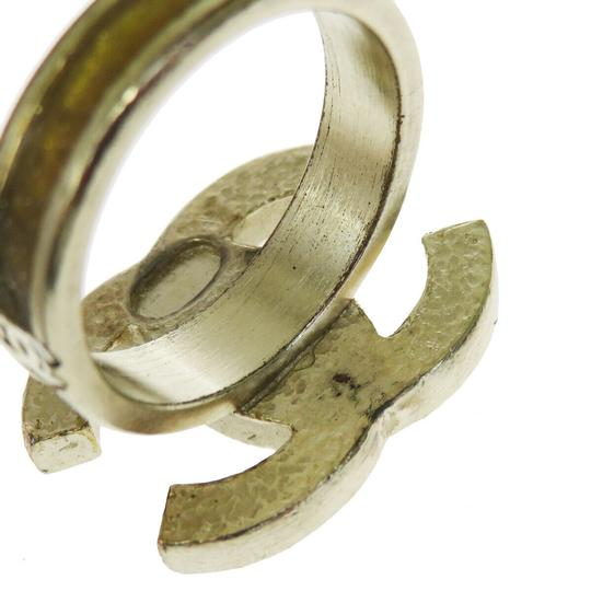 Chanel Authentic CHANEL CC Logo Ring Hardware Gold-tone Accessory Vintage Image 5