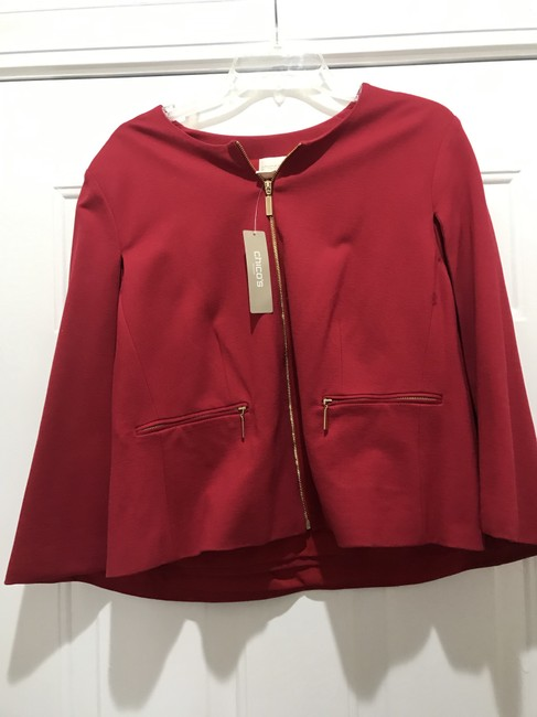 CHICO'S RED Jacket Image 2