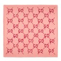 Gucci Gucci Pink Red GG Ghost Shawl Image 0