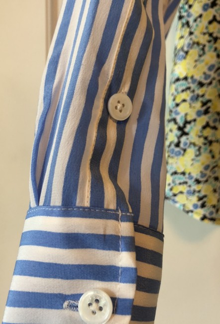 Equipment Button Down Shirt Navy, yellow, light blue and white Image 5