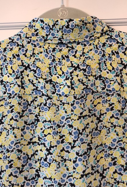 Equipment Button Down Shirt Navy, yellow, light blue and white Image 6
