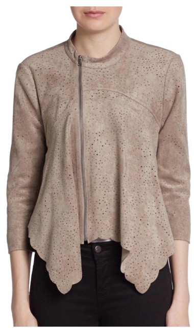 Item - Taupe Faux Suede Cropped Jacket Size 2 (XS)
