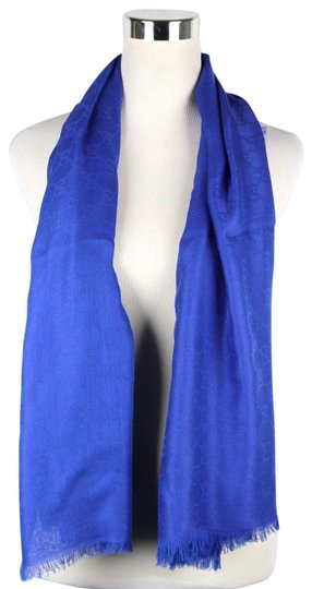Gucci Gucci Large Royal Blue Shawl Scarf GG Print 307245 4300 Image 0