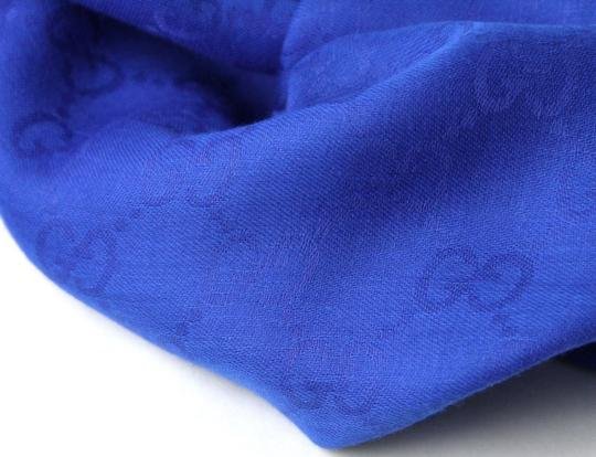 Gucci Gucci Large Royal Blue Shawl Scarf GG Print 307245 4300 Image 3