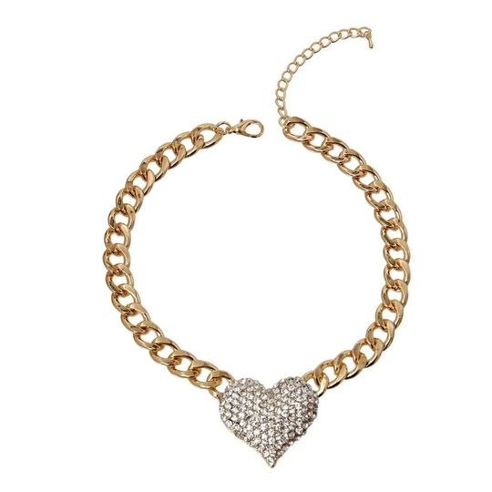 VERA Rhinestone Heart Necklace Image 1