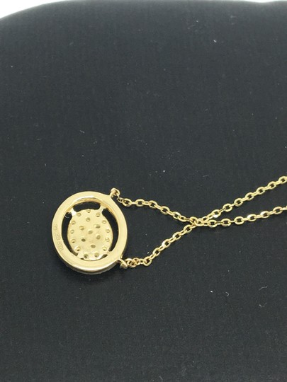 other 14K Yellow Gold Natural Genuine Diamond Oval Halo Cluster Necklace Image 4