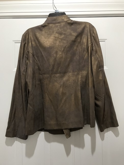 CHICO'S GOLD SHIMMER Leather Jacket Image 1