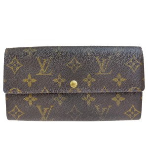 Louis Vuitton Authentic LOUIS VUITTON Porte Monnaie Credit Long Bifold Wallet Purse