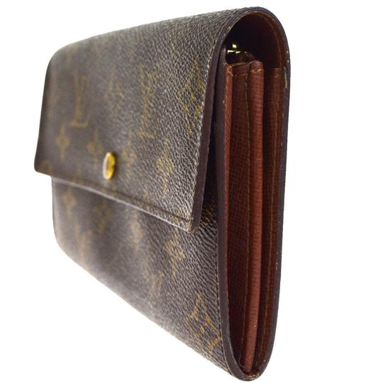 Louis Vuitton Authentic LOUIS VUITTON Porte Monnaie Credit Long Bifold Wallet Purse Image 1