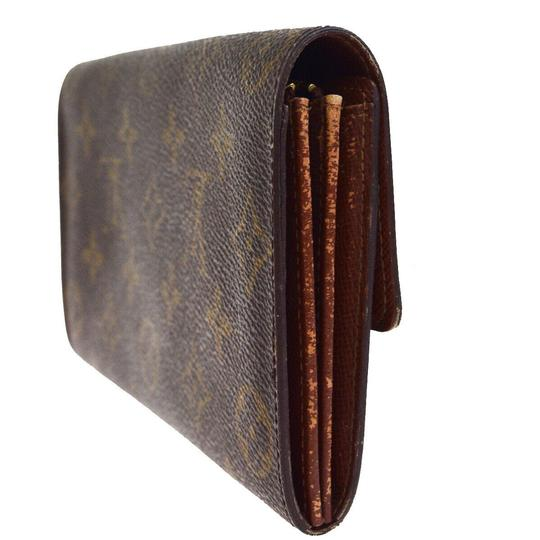 Louis Vuitton Authentic LOUIS VUITTON Porte Monnaie Credit Long Bifold Wallet Purse Image 4