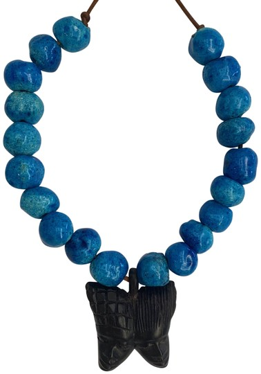 Preload https://img-static.tradesy.com/item/25946763/blue-green-black-glaze-ceramic-plaster-beads-butterfly-carved-wood-african-faces-necklace-0-1-540-540.jpg