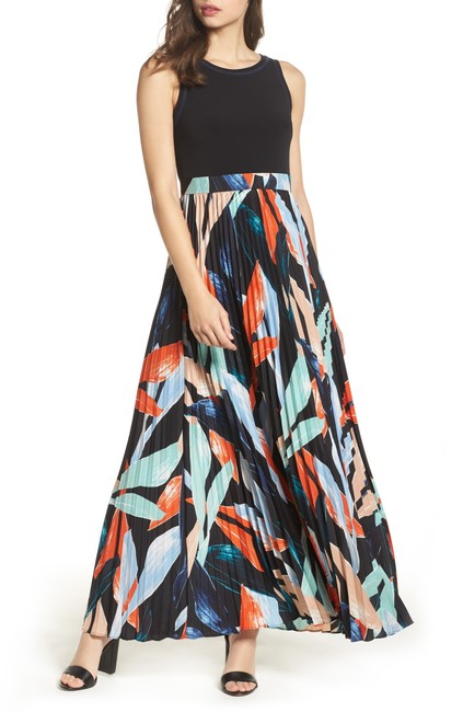 Preload https://img-static.tradesy.com/item/25946789/multi-color-pleated-floral-maxi-long-cocktail-dress-size-2-xs-0-1-650-650.jpg