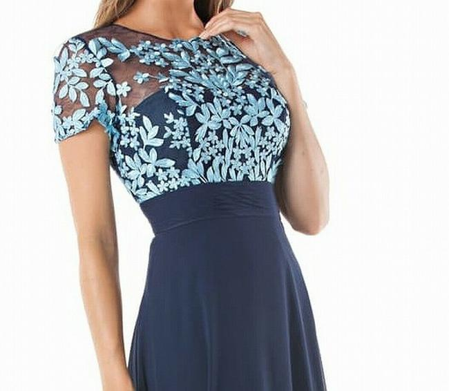 JS Collections Embroidered Bodycon Floral Dress Image 2