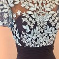 JS Collections Embroidered Bodycon Floral Dress Image 6