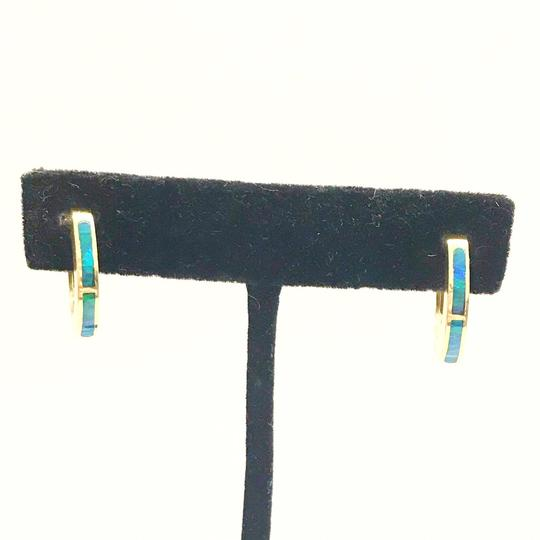 DeWitt's ESTATE COLLECTION!! 14 Karat Yellow Gold and Opal Earrings Image 2
