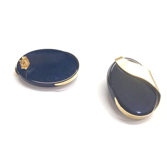 DeWitt's ESTATE COLLECTION!! 14 Karat Yellow Gold and Black Onyx Earrings Image 2