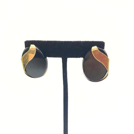 DeWitt's ESTATE COLLECTION!! 14 Karat Yellow Gold and Black Onyx Earrings Image 3