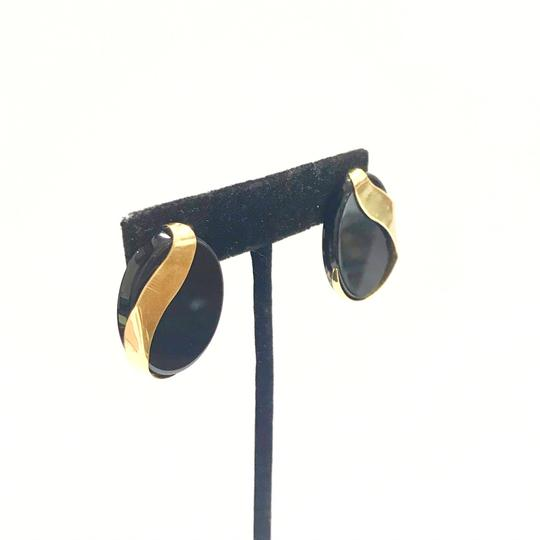 DeWitt's ESTATE COLLECTION!! 14 Karat Yellow Gold and Black Onyx Earrings Image 4