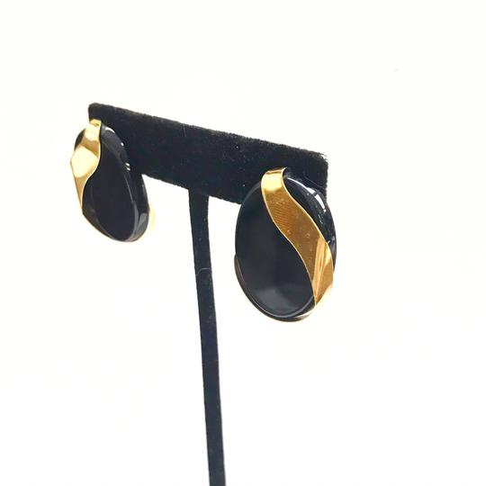 DeWitt's ESTATE COLLECTION!! 14 Karat Yellow Gold and Black Onyx Earrings Image 5