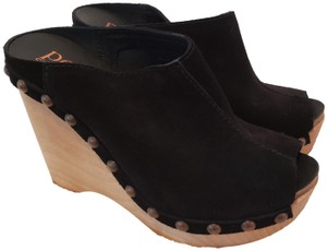 Pedro Garcia Wedges Black Mules