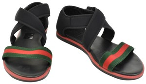 Gucci Web Stripe Children's - Black Sandals
