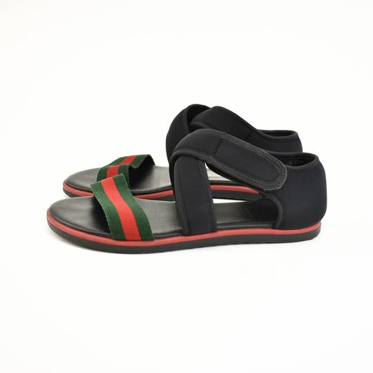 Gucci Web Stripe Children's - Black Sandals Image 2