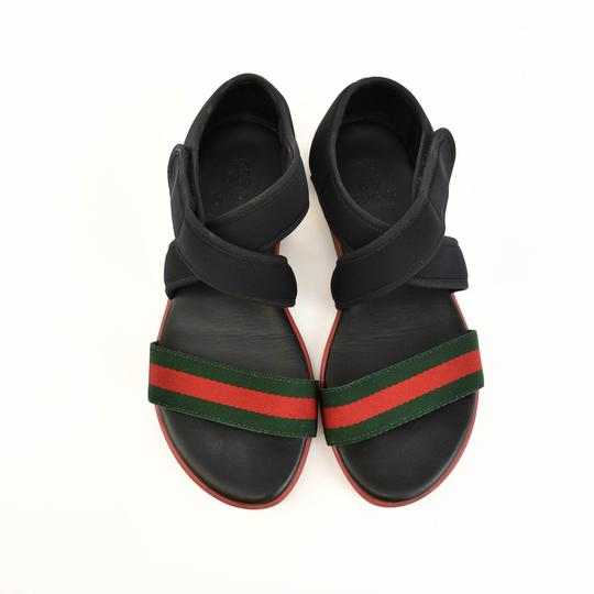 Gucci Web Stripe Children's - Black Sandals Image 3