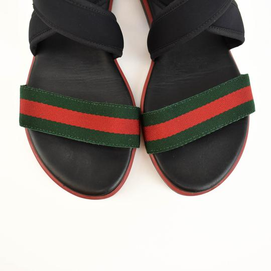 Gucci Web Stripe Children's - Black Sandals Image 4