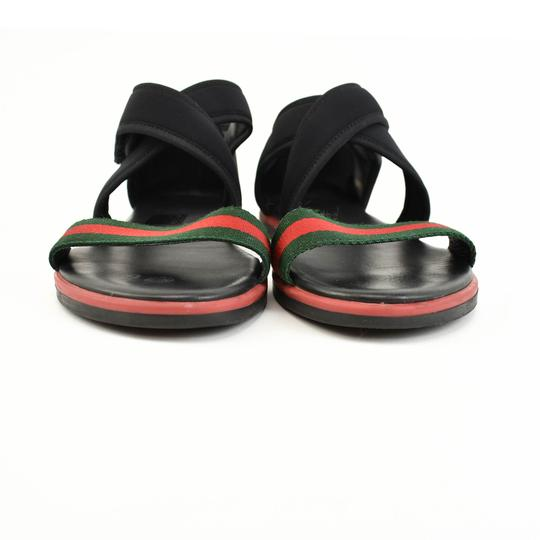 Gucci Web Stripe Children's - Black Sandals Image 5