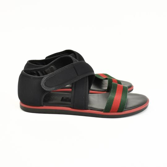 Gucci Web Stripe Children's - Black Sandals Image 6