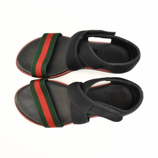 Gucci Web Stripe Children's - Black Sandals Image 8