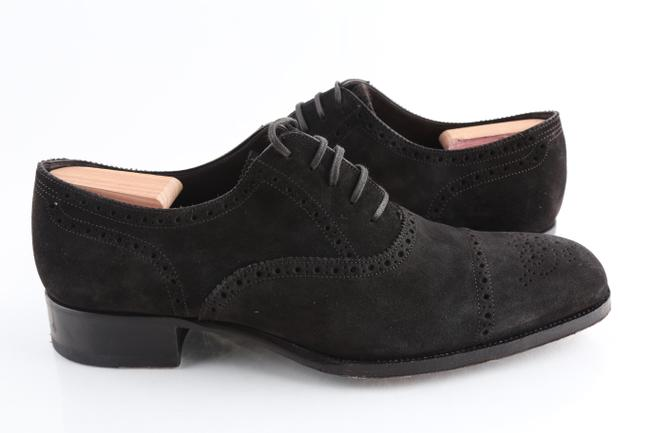 Tom Ford Brown Edgar Brogue Lace Up Dress Shoes Tom Ford Brown Edgar Brogue Lace Up Dress Shoes Image 1