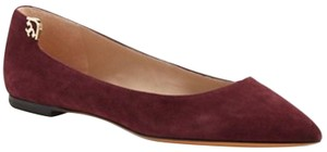 Tory Burch Ballet Suede Port Burgundy Flats