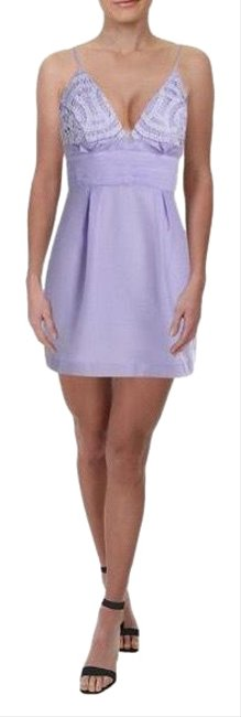 Item - Lilac Zeffer Ob776951 We Go Together Embellished Mini Short Night Out Dress Size 10 (M)