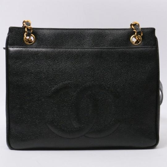 Chanel Vintage Caviar Shoulder Tote in black Image 1